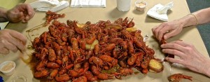 No frills at a crawfish boil